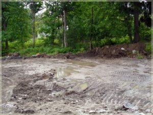 las iprzyszłe pole budowy
