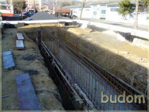 przygotowanie fundamentów budynku
