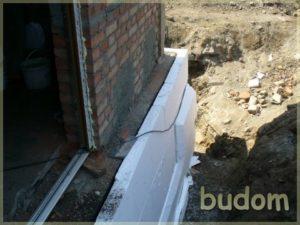 mocowanie ocieplenia naścianie budynku