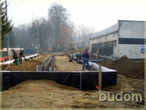 prace budowlane - widok nafundamenty