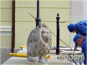 rzeźba lwa