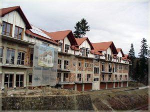 kompleks budynków wtrakcie wznoszenia