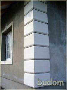 artystyczne połaczenie ścian budynku