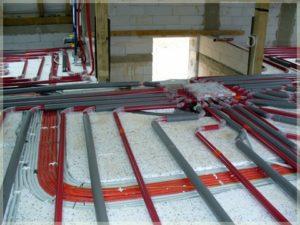 zamontowane ogrzewanie podłogowe