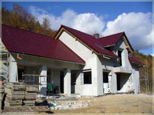 Plac budowy pensjonatu wSzklarskiej Porębie