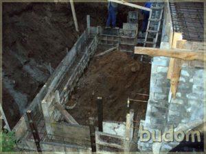 początki prac budowlanych