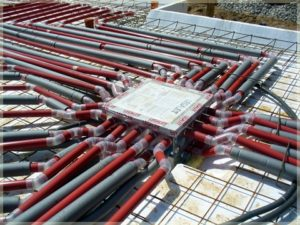 montaż instalacji grzewczej podłoża