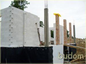 wznoszenie ścian nośnych ikolumn budynku