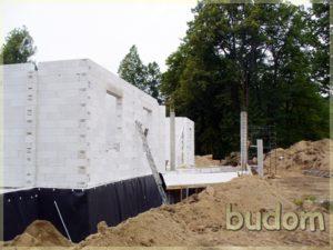 fragment ścian nośnych nowego budynku