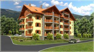 wizualizacja otoczenia apartamentowca wSzklarskiej Porębie