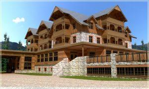 drewniany hotel Sosnówka
